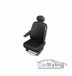 Semi-pasvorm stoelhoes Zwart Skai Leder voor Bedrijfsauto's