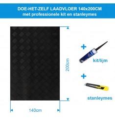 Doe-het-zelf Laadvloer rubber | 140cm breed | 200cm lang inclusief kit & stanleymes